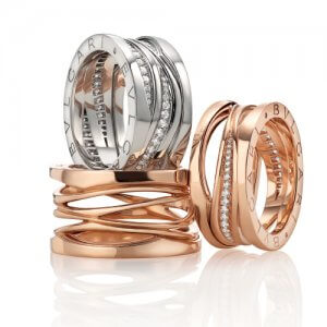Luxury Italian Rings by Bvlgari at Kirk Freeport in the Cayman Islands