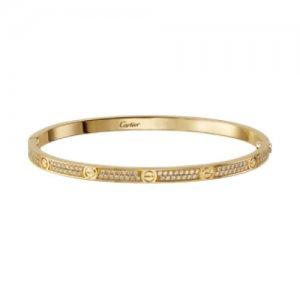 Cartier Diamond Love Bracelets at Kirk Freeport in the Cayman Islands