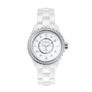 J12 White Chanel Luxury Watch at Kirk Freeport in the Cayman Islands