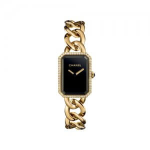 Priemere Womens Gold Watch with Black Face by Chanel at Kirk Freeport in the Cayman Islands