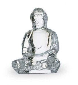 Little Buddha crystal figure by Baccarat Crystal at Kirk Freeport in Grand Cayman
