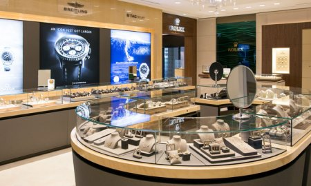 Kirk Freeport presents newest store opened in 2015 located in the Ritz-Carlton Hotel on Seven Mile Beach in the Grand Cayman Islands