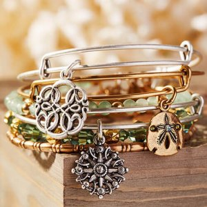 Gold bangle bracelet by Alex & Ani Jewelry at Kirk Freeport in Grand Cayman