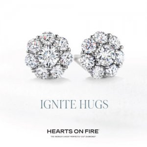 Hearts on Fire earrings at Kirk Freeport in Grand Cayman