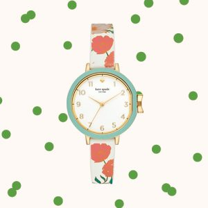 Kate Spade Watch with Poppies on the wristband at Kirk Freeport in Grand Cayman