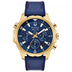 Bulova Marine Star Chronograph Blue Men's Dial Watch at Kirk Freeport in the Cayman Islands