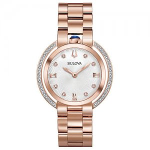 Women's Luxury Rose Gold Diamond Quartz Rubaiyat Watch at Kirk Freeport in the Cayman Islands