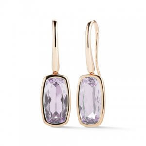 Rose de France rose gold earrings by A & Furst Jewelry at Kirk Freeport in Grand Cayman