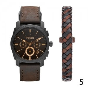 Brown Leather FOSSIL Watch for Men