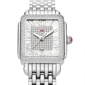 Silver luxury watch for women by Michele at Kirk Freeport in the Cayman Islands.