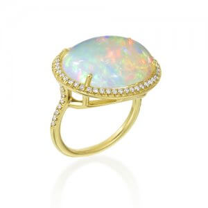 Lauren K Opal and Gold Ring at Kirk Freeport in Grand Cayman